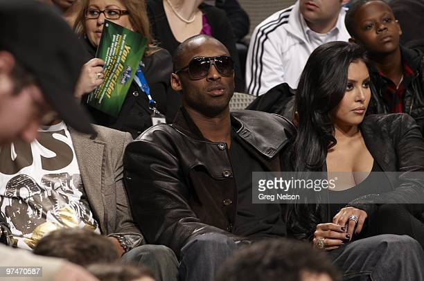 NBA All Star Saturday Night Los Angeles Lakers Kobe Bryant and wife Vanessa during AllStar Weekend at American Airlines Center Dallas TX 2/13/2010...