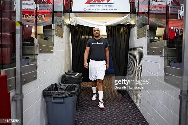 NBA Development League Idaho Stampede Antoine Walker before game vs Reno Bighorns at CenturyLink Arena Walker a former NBA star now plays in the NBA...
