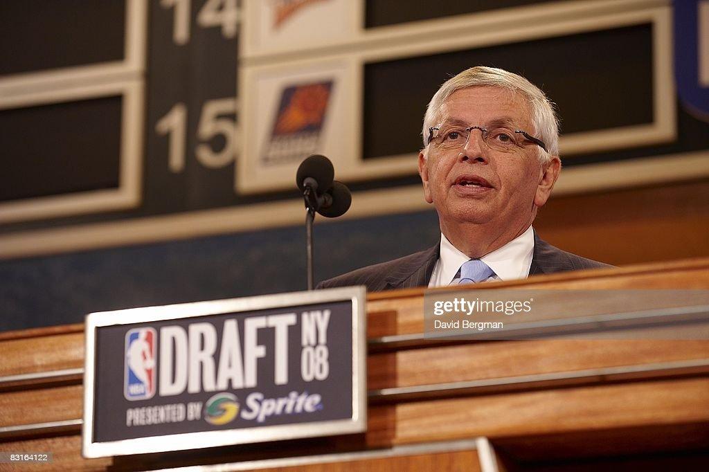 NBA commissioner David Stern at podium during draft at Madison Square Garden. New York, NY 6/26/2008