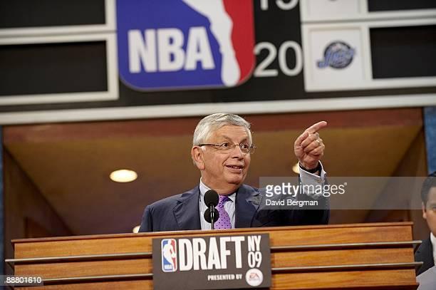 NBA Draft NBA commissioner David Stern during draft at WaMu Theater in Madison Square Garden New York NY 6/25/2009 CREDIT David Bergman