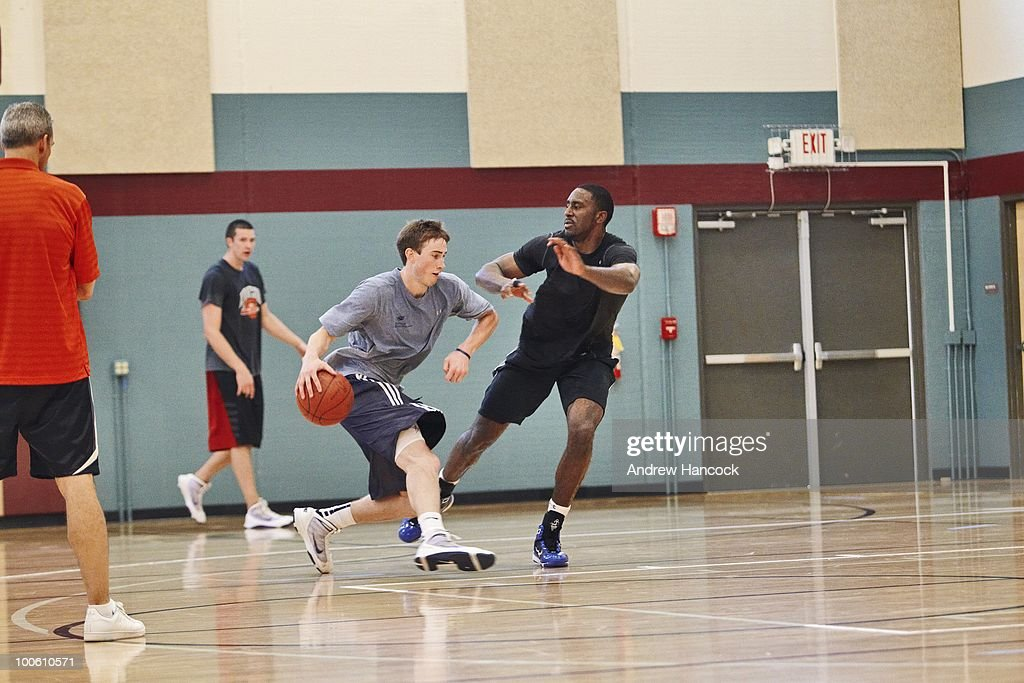 NBA prospect and former Butler University player Gordon Hayward during workout at St. Vincent Sports Performance Center. Indianapolis, IN 5/16/2010