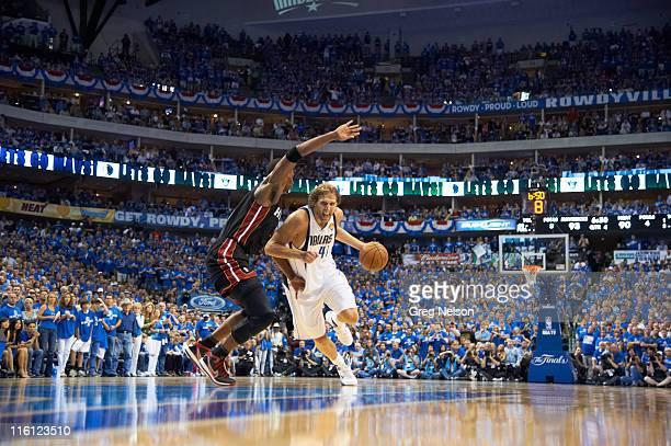 NBA Finals Dallas Mavericks Dirk Nowitzki in action vs Miami Heat at American Airlines Center Game 5 Dallas TX CREDIT Greg Nelson