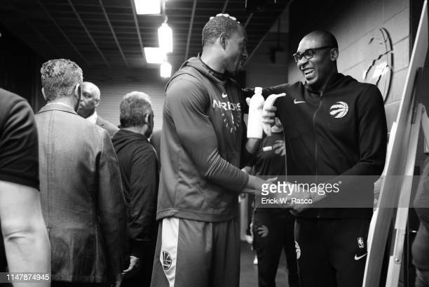 Finals: Golden State Warriors Andre Iguodala before game vs Toronto Raptors at Scotia Bank Arena. Game 1. Toronto, Canada 5/30/2019 CREDIT: Erick W....