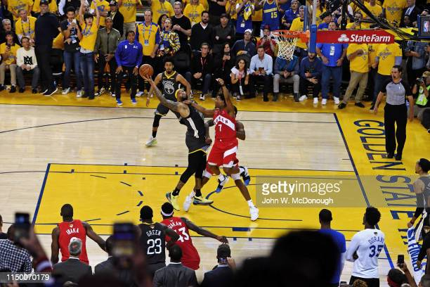 NBA Finals Golden State Warriors DeMarcus Cousins in action vs Toronto Raptors Kyle Lowry at Oracle Arena Game 6 Oakland CA CREDIT John W McDonough