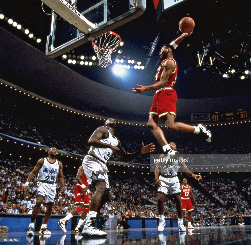 Houston Rockets Nba Championships: Houston Rockets Robert Horry In Action, Dunk Over Orlando