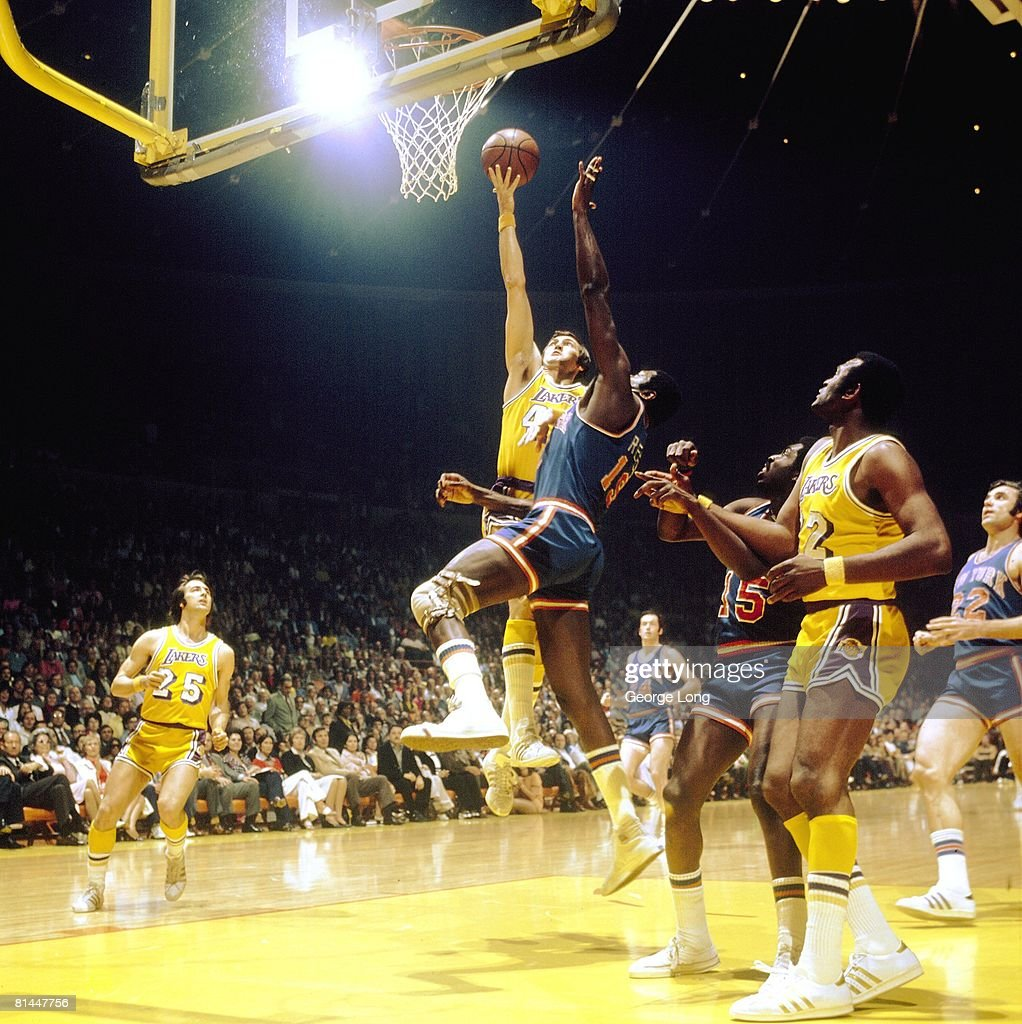 NBA Finals, Los Angeles Lakers Jerry West In Action, Layup