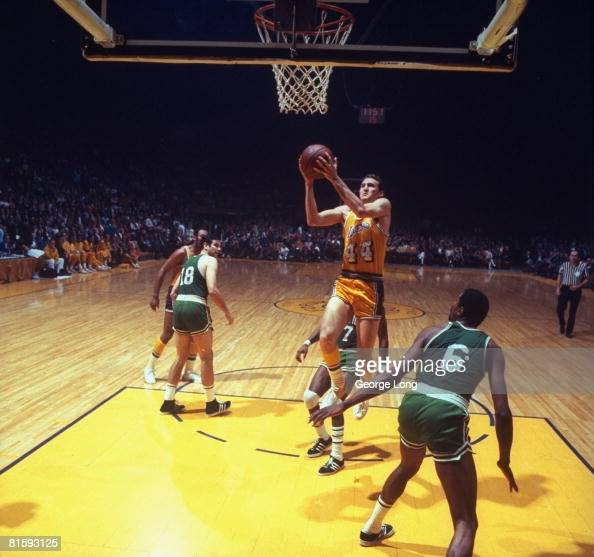 NBA Finals, Los Angeles Lakers Jerry West In Action Vs