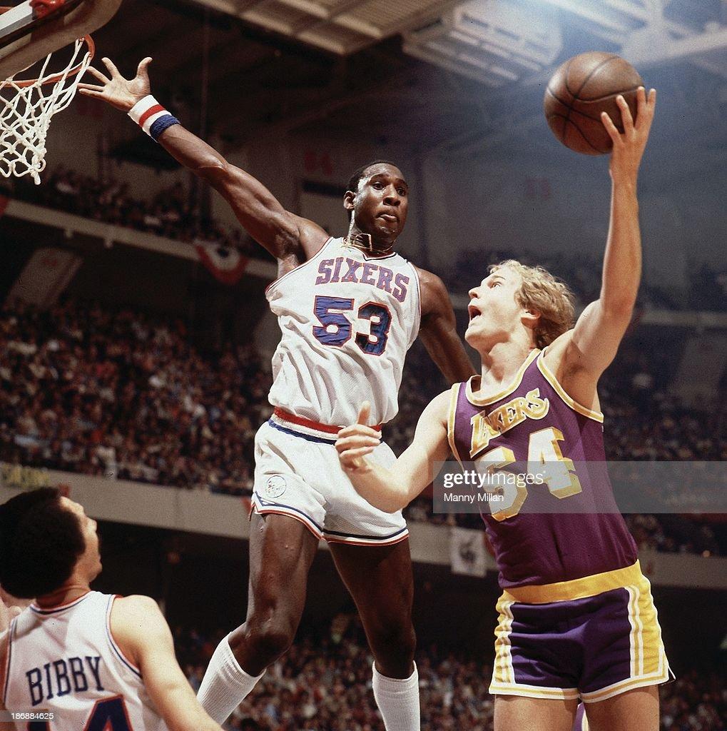 Nba Basketball Los Angeles Lakers: Los Angeles Lakers Mark Landsberger In Action, Shot Vs