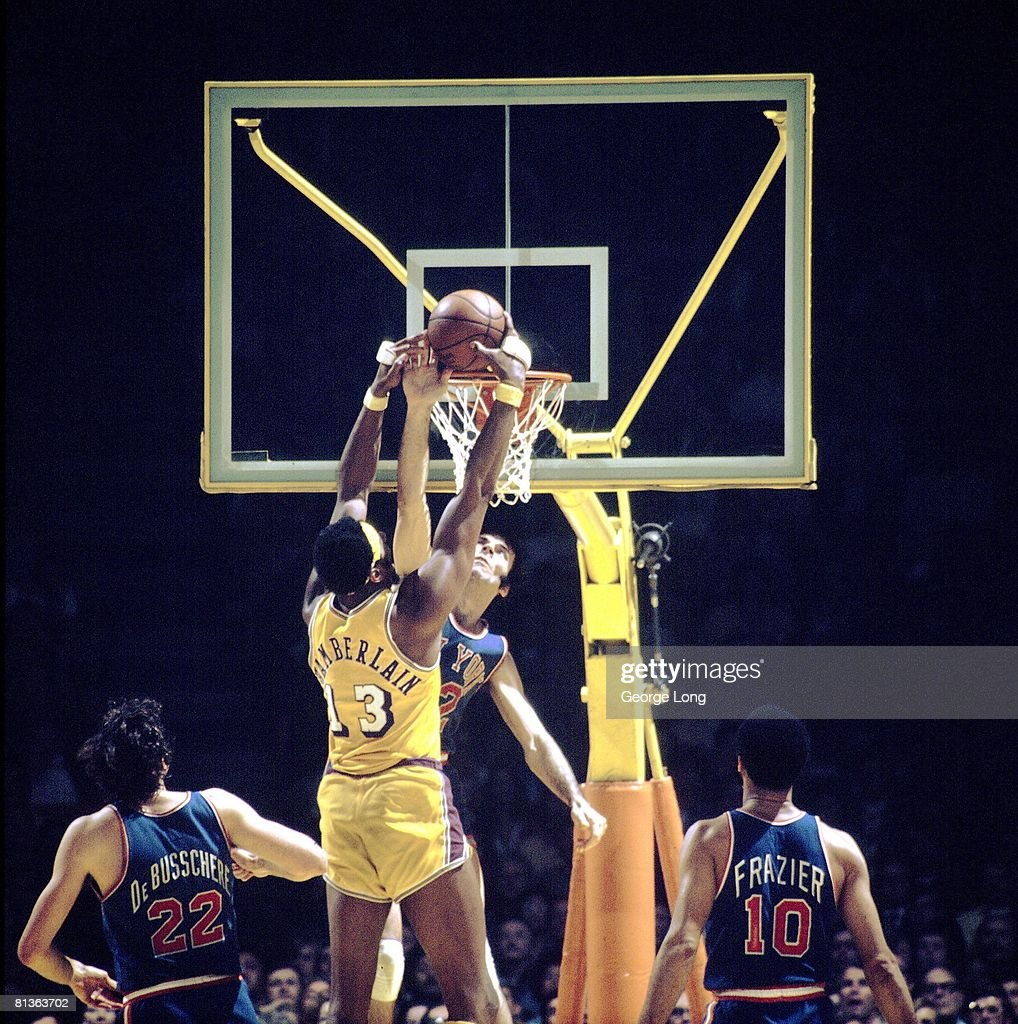 NBA Finals, Los Angeles Lakers Wilt Chamberlain In Action