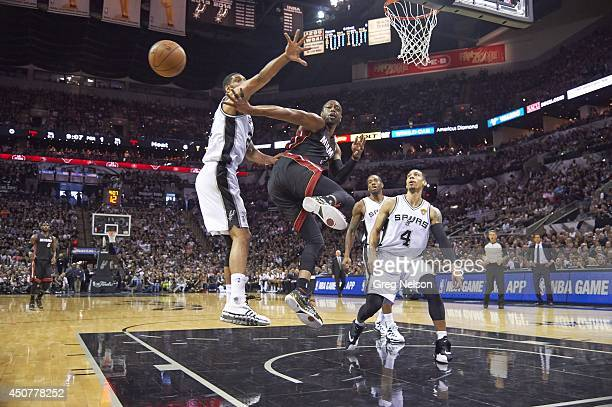 NBA Finals Miami Heat Dwyane Wade in action passing vs San Antonio Spurs at ATT Center Game 5 San Antonio TX CREDIT Greg Nelson