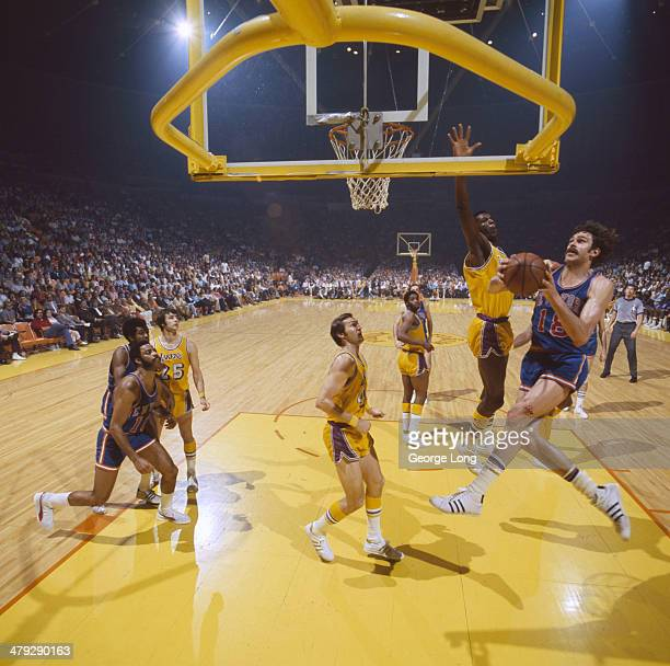 NBA Finals New York Knicks Phil Jackson in action vs Los Angeles Lakers at The Forum Game 1 Inglewood CA CREDIT George Long