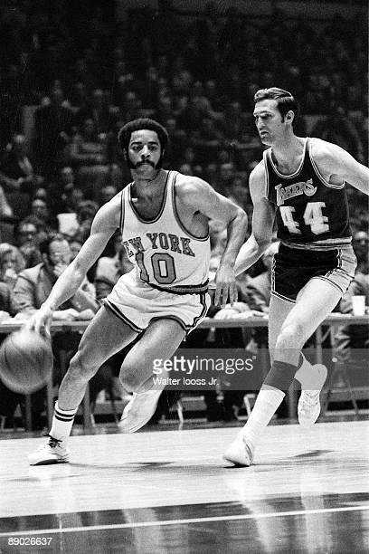 NBA Finals New York Knicks Walt Frazier in action vs Los Angeles Lakers Jerry West New York NY 4/24/19705/8/1970 CREDIT Walter Iooss Jr