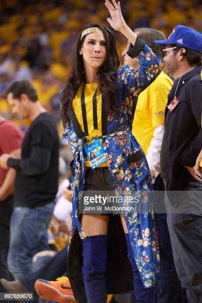Finals: Nicole Curran, fiancee of Golden State Warriors owner Joe Lacob, courtside during game 1 vs Cleveland Cavaliers at Oracle Arena. Oakland, CA...