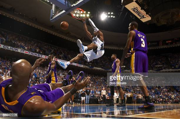 NBA Finals Orlando Magic Dwight Howard in action dunk vs Los Angeles Lakers Game 3 Orlando FL 6/9/2009 CREDIT Bob Rosato