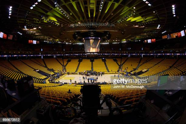 NBA Finals Overall view of Oracle Arena before Golden State Warriors vs Cleveland Cavaliers game Game 5 Oakland CA CREDIT John W McDonough