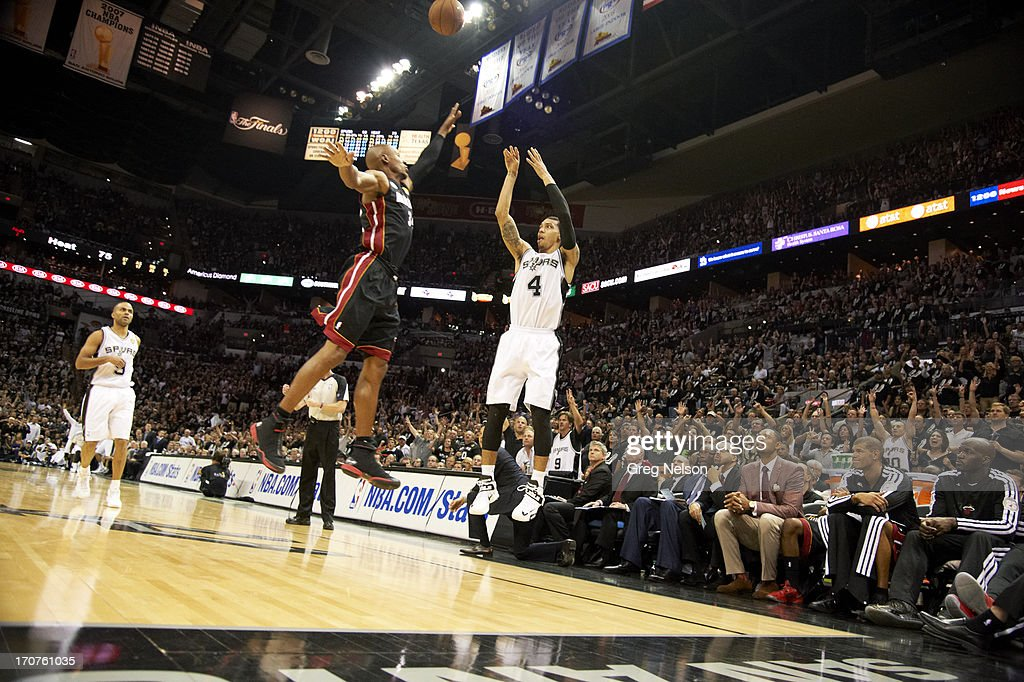 San Antonio Spurs Danny Green In Action Shot Vs Miami Heat At At T News Photo Getty Images