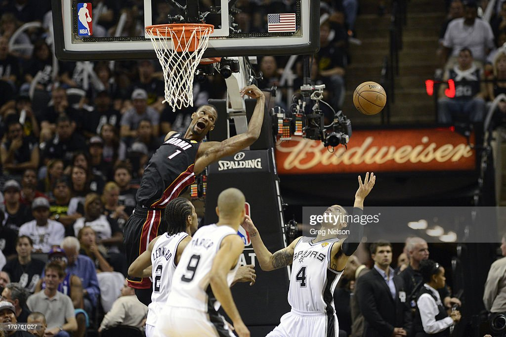 San Antonio Spurs Danny Green In Action Vs Miami Heat Chris Bosh At News Photo Getty Images