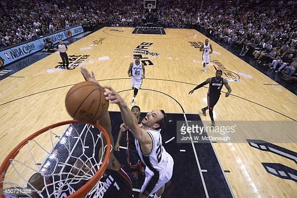 NBA Finals San Antonio Spurs Manu Ginobili in action vs Miami Heat at ATT Center San Antonio TX CREDIT John W McDonough