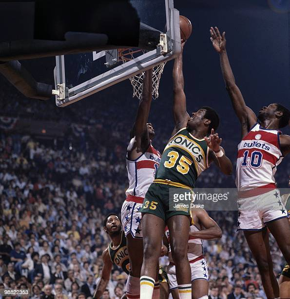 NBA Finals Seattle SuperSonics Paul Silas in action shot vs Washington Bullets Game 5 Landover MD 6/1/1979 CREDIT James Drake