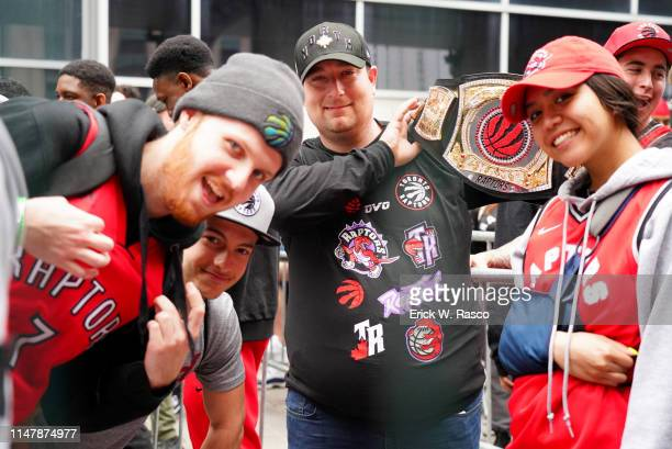 Finals: Toronto Raptors fans outside Scotia Bank Arena before game vs Golden State Warriors. Game 1. Toronto, Canada 5/30/2019 CREDIT: Erick W. Rasco