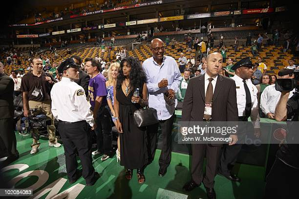 Finals: View of Pam and Joe Bryant, mother and father of Los Angeles Lakers Kobe Bryant after Game 3 vs Boston Celtics. Boston, MA 6/8/2010 CREDIT:...