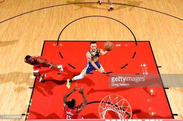 NBA Playoffs Aerial view of Golden State Warriors Stephen Curry in action vs Houston Rockets at Toyota Center Game 4 Houston TX CREDIT Greg Nelson