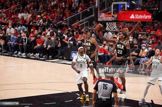 Playoffs: Atlanta Hawks Cam Reddish in action vs Milwaukee Bucks at State Farm Arena. Game 6. Atlanta, GA 7/3/2021 CREDIT: Greg Nelson