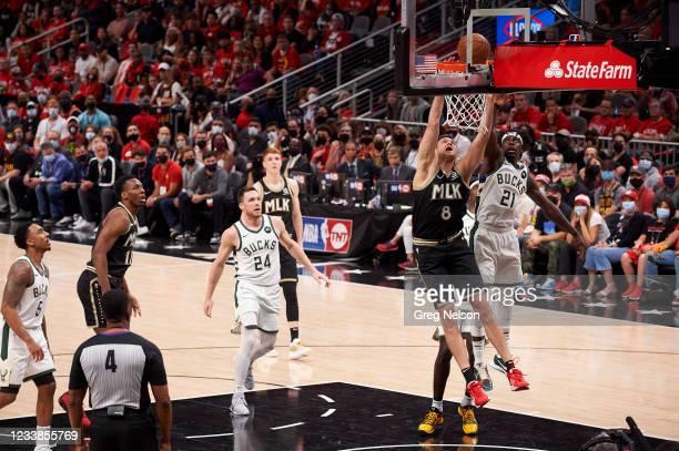 Playoffs: Atlanta Hawks Danilo Gallinari in action vs Milwaukee Bucks at State Farm Arena. Game 6. Atlanta, GA 7/3/2021 CREDIT: Greg Nelson