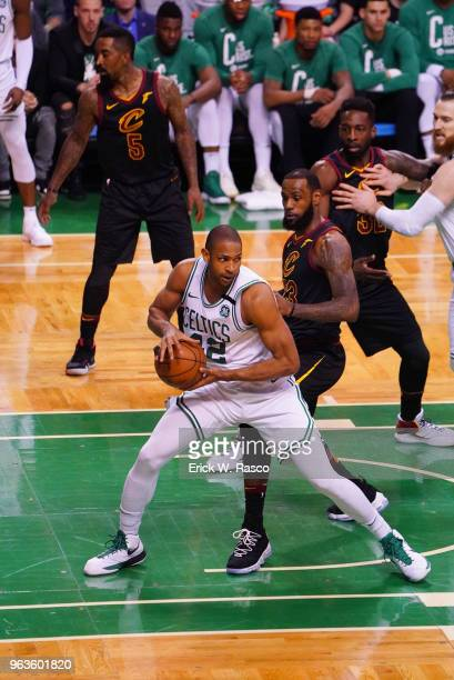 NBA Playoffs Boston Celtics Al Horford in action vs Cleveland Cavaliers LeBron James at TD Garden Game 7 Boston MA CREDIT Erick W Rasco