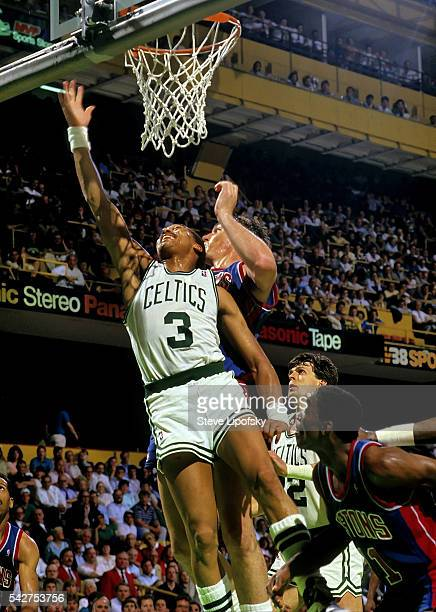 NBA Playoffs Boston Celtics Dennis Johnson in action vs Detroit Pistons at Boston Garden Boston MA CREDIT Steve Lipofsky