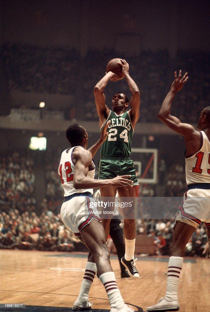 uk availability 51e2b 275ae Boston Celtics Sam Jones in action, shooting vs Philadelphia ...