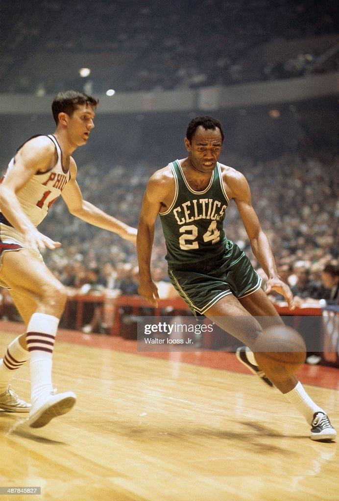 reputable site 1f82d 8e445 Boston Celtics Sam Jones in action vs Philadelphia 76ers ...