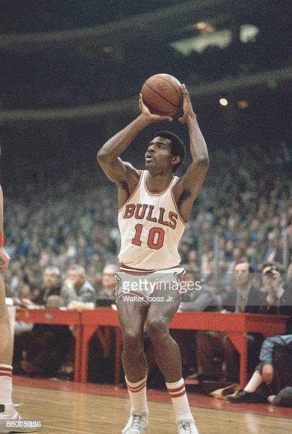NBA Playoffs Chicago Bulls Bob Love in action shot vs Los Angeles Lakers Game 6 Chicago IL 4/13/1979 CREDIT Walter Iooss Jr