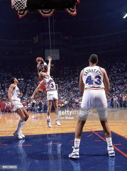 Chicago Bulls Michael Jordan in action, taking game ...