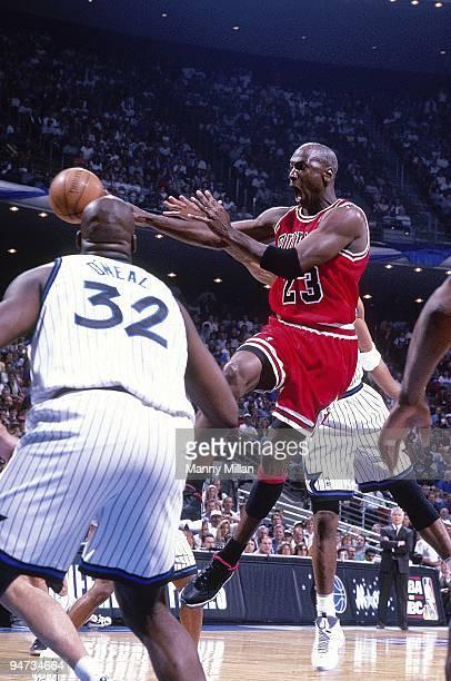 Playoffs: Chicago Bulls Michael Jordan in action vs Orlando Magic. Game 3. Orlando, FL 5/25/1996 CREDIT: Manny Millan