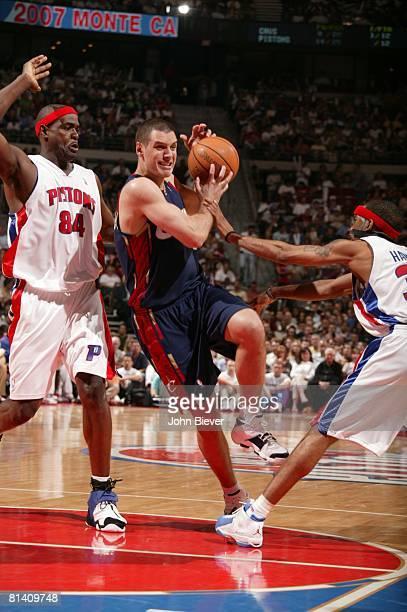Basketball NBA Playoffs Cleveland Cavaliers Aleksandar Pavlovic in action layup vs Detroit Pistons Game 5 Auburn Hills MI 5/31/2007