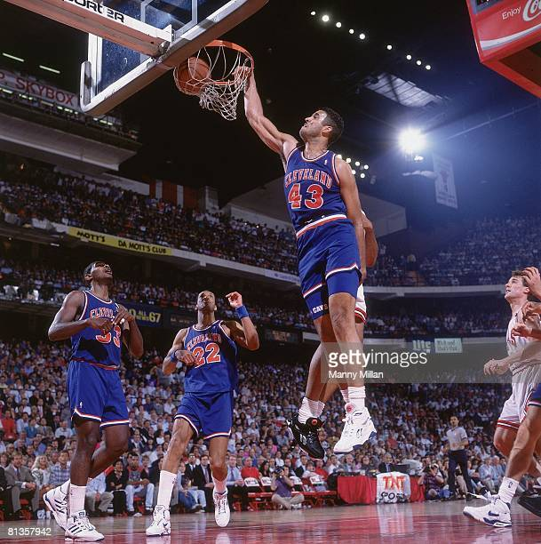Basketball NBA Playoffs Cleveland Cavaliers Brad Daugherty in action making dunkvs Chicago Bulls Game 2 Chicago IL 5/21/1992