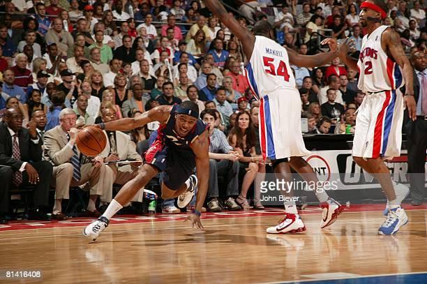Basketball NBA Playoffs Cleveland Cavaliers Daniel Gibson in action vs Detroit Pistons Game 5 Auburn Hills MI 5/31/2007