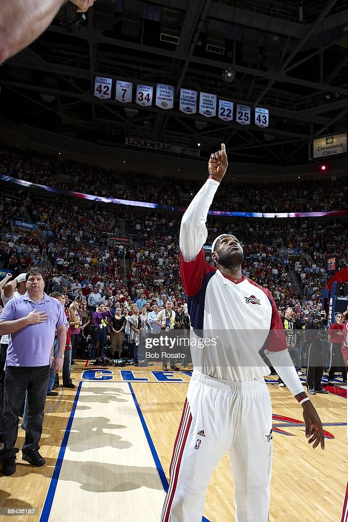 d8fb9d149924 Cleveland Cavaliers LeBron James before game vs Orlando Magic. Game ...