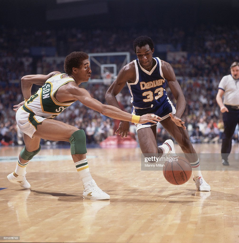 Denver Nuggets David Thompson In Action Vs Seattle