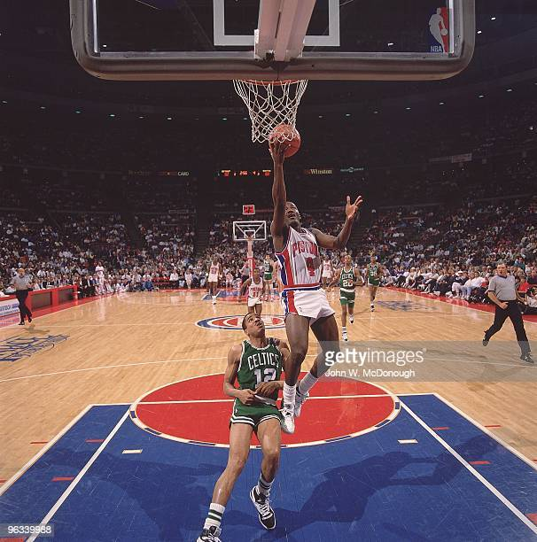 NBA Playoffs Detroit Pistons Joe Dumars in action vs Boston Celtics Otis Birdsong Auburn Hills MI 4/28/19894/30/1989 CREDIT John W McDonough