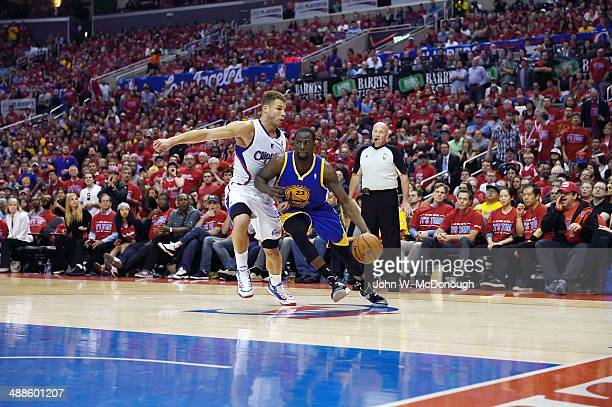 NBA Playoffs Golden State Warriors Draymond Green in action vs Los Angeles Clippers Blake Griffin at Staples Center Game 7 Los Angeles CA CREDIT John...