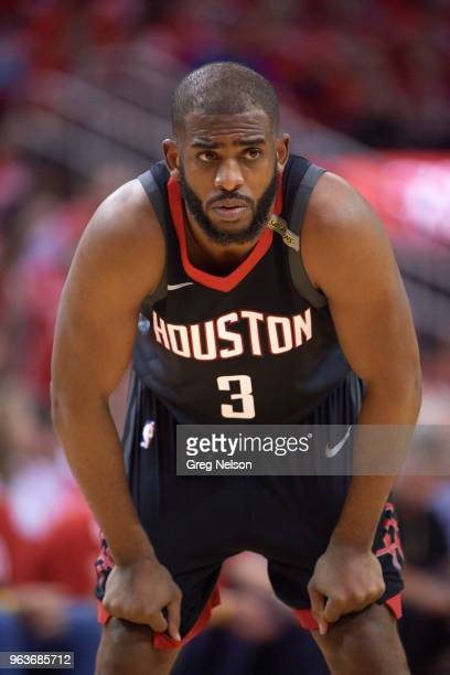 NBA Playoffs Houston Rockets Chris Paul during game vs Golden State Warriors at Toyota Center Game 5 Houston TX CREDIT Greg Nelson