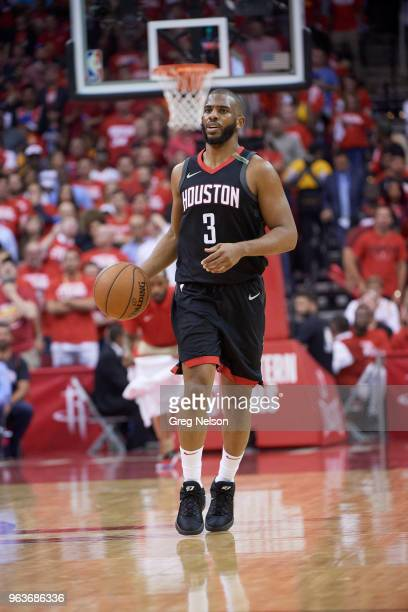 NBA Playoffs Houston Rockets Chris Paul in action vs Golden State Warriors at Toyota Center Game 5 Houston TX CREDIT Greg Nelson