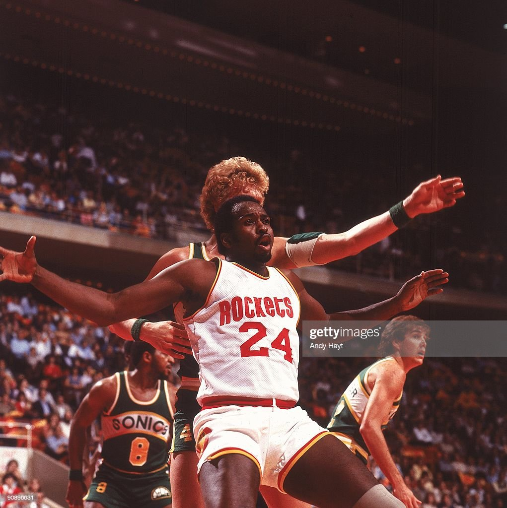 Houston Rockets Nba Playoffs: Houston Rockets Moses Malone In Action, Shot Vs Seattle