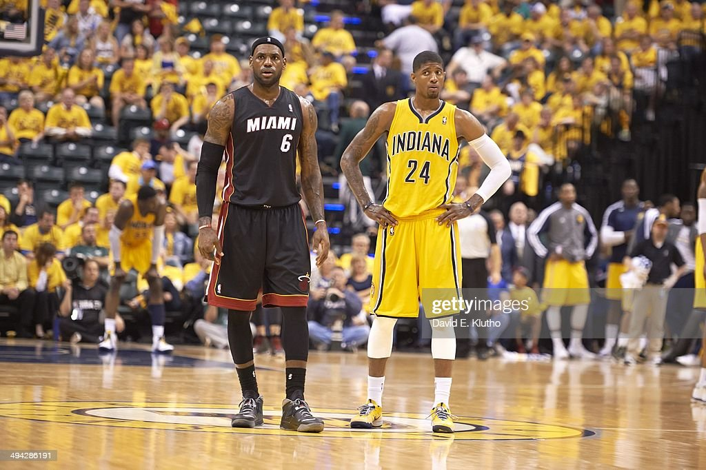 huge selection of 2c0e2 0b222 Indiana Pacers vs Miami Heat, 2014 NBA Eastern Conference Finals   News  Photo