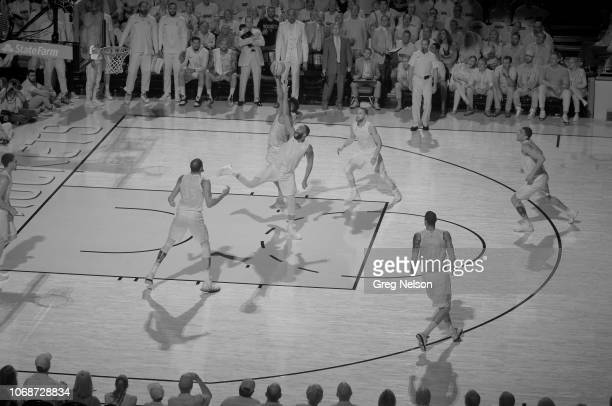NBA Playoffs Infrared view of miscellaneous loose ball action during Golden State Warriors vs Houston Rockets Game 5 at Toyota Center Houston TX...