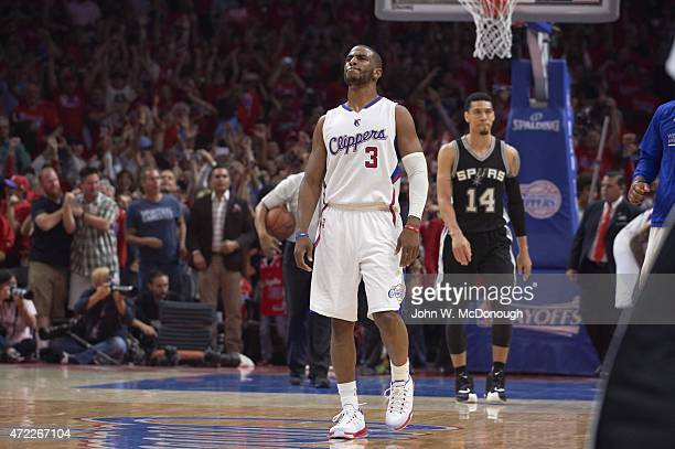 NBA Playoffs Los Angeles Clippers Chris Paul during game vs San Antonio Spurs at Staples Center Game 7 Los Angeles CA CREDIT John W McDonough