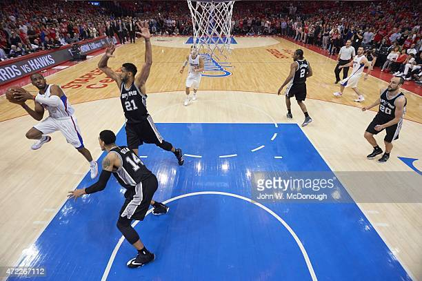 NBA Playoffs Los Angeles Clippers Chris Paul in action making game winning shot vs San Antonio Spurs at Staples Center Game 7 Los Angeles CA CREDIT...