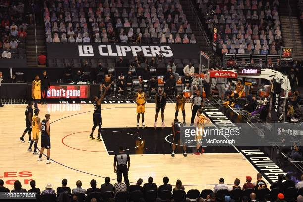 Playoffs: Los Angeles Clippers Paul George in action, shooting free throw vs Utah Jazz at Staples Center. Game 4. Los Angeles, CA 6/14/2021 CREDIT:...